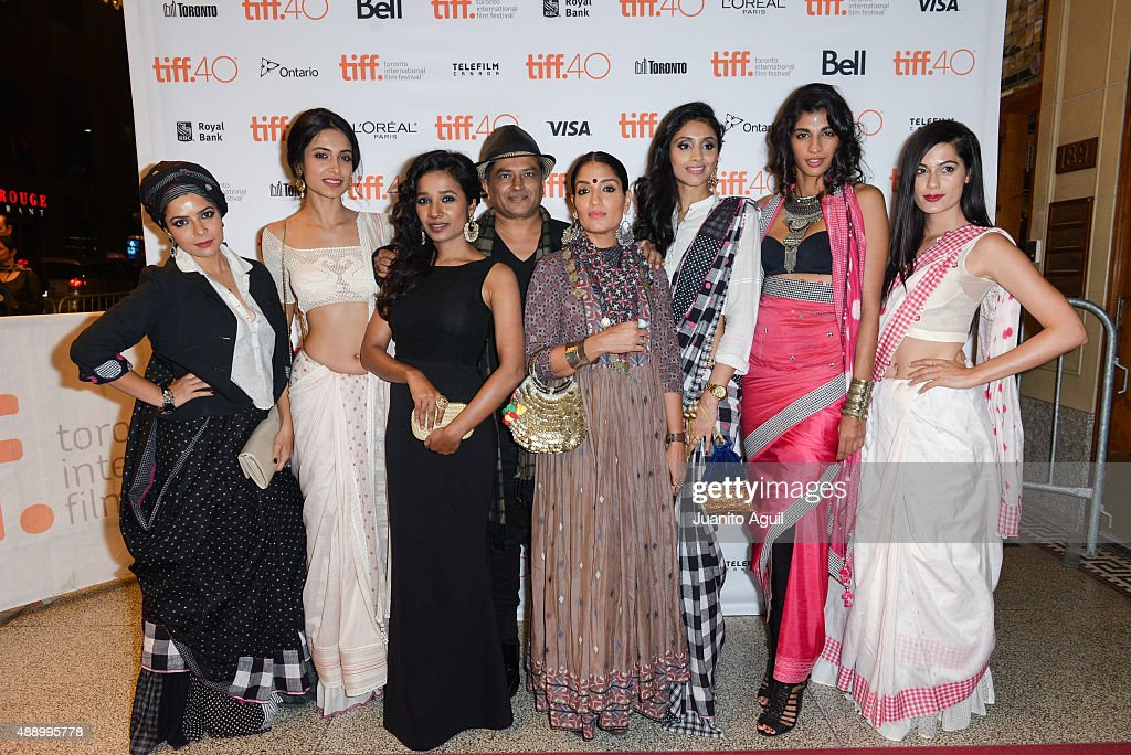 Actresses <a gi-track='captionPersonalityLinkClicked' href=/galleries/search?phrase=Rajshri+Deshpande&family=editorial&specificpeople=15046435 ng-click='$event.stopPropagation()'>Rajshri Deshpande</a>, Sarah-Jane Dias, <a gi-track='captionPersonalityLinkClicked' href=/galleries/search?phrase=Tannishtha+Chatterjee&family=editorial&specificpeople=2562123 ng-click='$event.stopPropagation()'>Tannishtha Chatterjee</a>, director Pan Nalin, actresses <a gi-track='captionPersonalityLinkClicked' href=/galleries/search?phrase=Sandhya+Mridul&family=editorial&specificpeople=6597835 ng-click='$event.stopPropagation()'>Sandhya Mridul</a>, Pavleen Gujral, <a gi-track='captionPersonalityLinkClicked' href=/galleries/search?phrase=Anushka+Manchanda&family=editorial&specificpeople=5577465 ng-click='$event.stopPropagation()'>Anushka Manchanda</a>, and Amrit Maghera attend the premiere of 'Angry Indian Goddesses' at The Elgin on September 18, 2015 in Toronto, Canada.