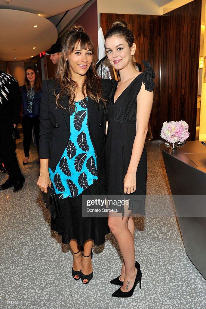 Actresses Rashida Jones and Nora Zehetner attend a private dinner hosted by Barneys New York and Rashida Jones in honor of Thakoon Panichgul at...