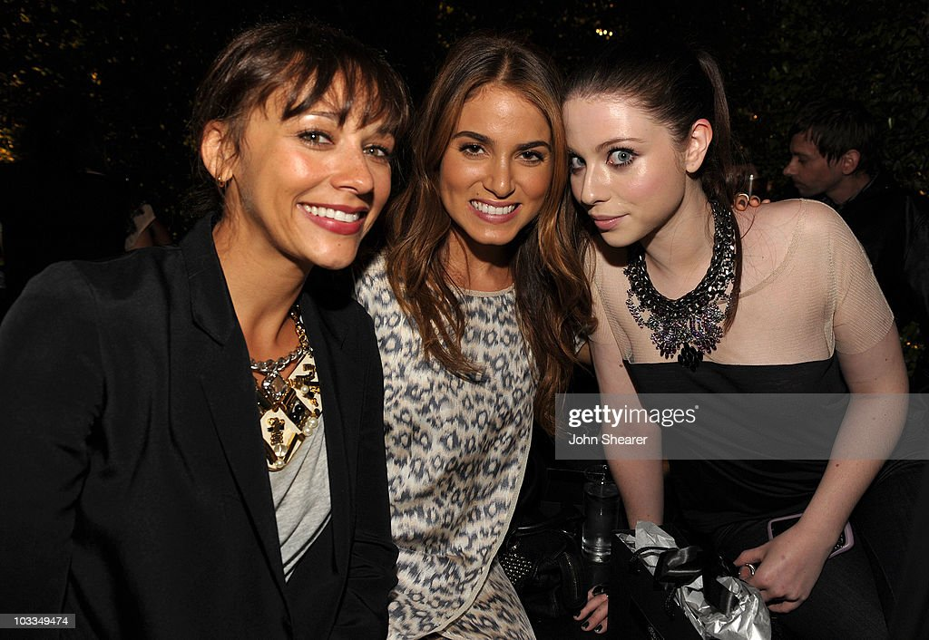 Actresses Rashida Jones Nikki Reed and Michelle Trachtenberg attend the BlackBerry Torch from ATT US Launch Party on August 11 2010 in Los Angeles...