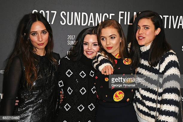 Actresses Rebecca Dayan Eline Powell Morgan Saylor and Margaret Qualley attend the 'Novitate' premiere during day 2 of the 2017 Sundance Film...