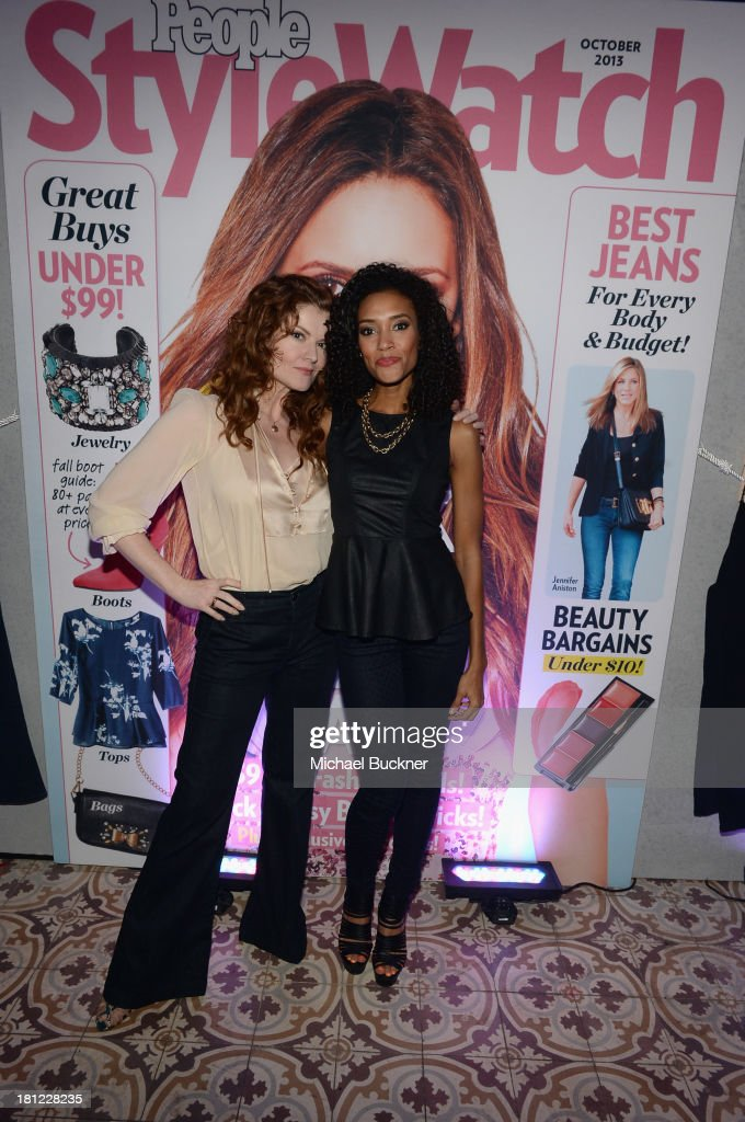 Actresses Rebecca Wisocky and <a gi-track='captionPersonalityLinkClicked' href=/galleries/search?phrase=Annie+Ilonzeh&family=editorial&specificpeople=6860834 ng-click='$event.stopPropagation()'>Annie Ilonzeh</a> attend People StyleWatch Denim Awards presented by GILT at Palihouse on September 19, 2013 in West Hollywood, California.