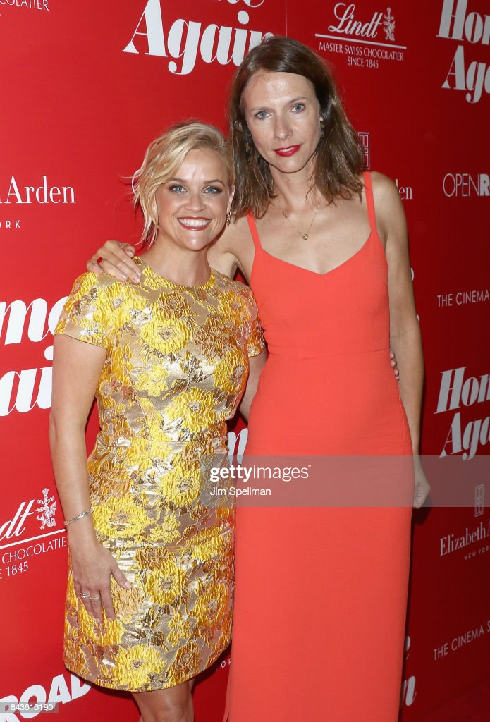 Actresses Reese Witherspoon and Dolly Wells attend the screening of Open Road Films' 'Home Again' hosted by The Cinema Society with Elizabeth Arden and Lindt Chocolate at The Paley Center for Media on September 6, 2017 in New York City.
