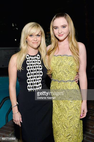 Actresses Reese Witherspoon and Kathryn Newton attend ELLE's Annual Women In Television Celebration 2017 at Chateau Marmont on January 14 2017 in Los...