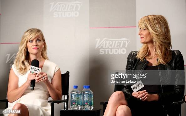 Actresses Reese Witherspoon and Laura Dern attend the Variety Studio presented by Moroccanoil at Holt Renfrew during the 2014 Toronto International...