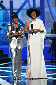 Actresses Regina King and Tracee Ellis Ross host the 'Black Girls Rock' BET Special at NJPAC – Prudential Hall on March 28 2015 in Newark New Jersey