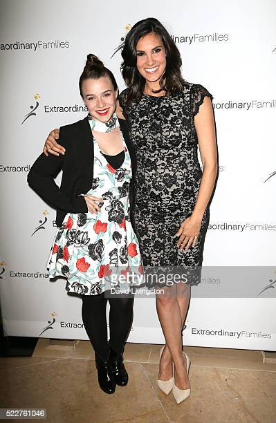 Actresses Renee Felice Smith and Daniela Ruah arrive at the Extraordinary Families Gala at The Beverly Hilton Hotel on April 20 2016 in Beverly Hills...