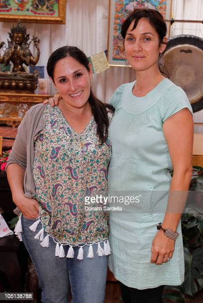 Actresses Ricki Lake and CarrieAnne Moss attend Celebrate Midwifery 2010 on October 10 2010 in Los Angeles California