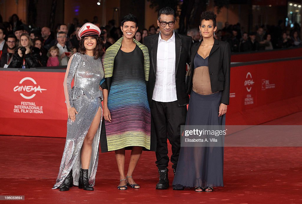 Actresses Rii Sen,Tinu Verghis, Roxanne Hauzer and director Qaushiq Mukherjee attend 'Tasher Desh' Premiere during the 7th Rome Film Festival at Auditorium Parco Della Musica on November 11, 2012 in Rome, Italy.