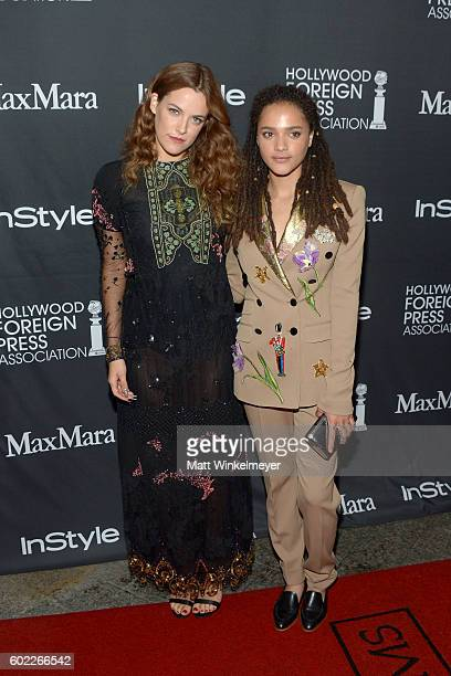 Actresses Riley Keough and Sasha Lane attend the TIFF/InStyle/HFPA Party during the 2016 Toronto International Film Festival at Windsor Arms Hotel on...