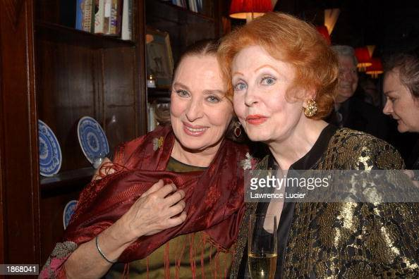 Actresses Rita Gamm and Arlene Dahl attend the official Academy of Motion Picture Arts Sciences Oscar Night Viewing Party at Le Cirque 2000...
