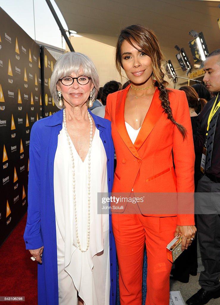 Actresses Rita Moreno and Daniella Alonso attend the NALIP 2016 Latino Media Awards at Dolby Theatre on June 25, 2016 in Hollywood, California.