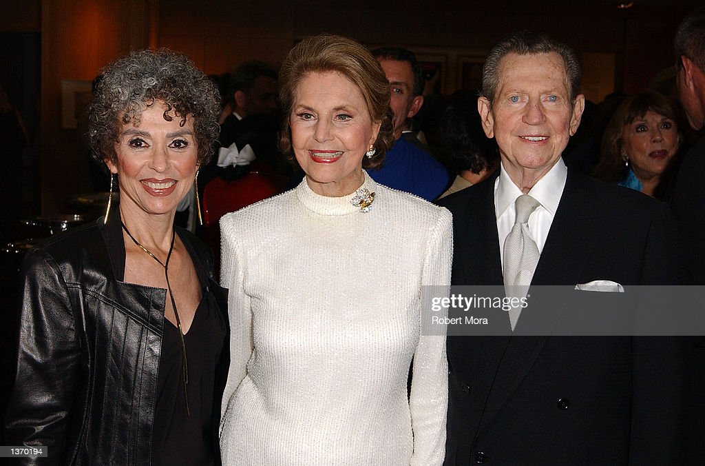 Actresses Rita Moreno, Cyd Charisse, actor Donald O'Connor attend the 50th Anniversary screening of 'Singin' in the Rain' at the Academy of Motion Picture Arts and Sciences on September 5, 2002 in Beverly Hills, California.