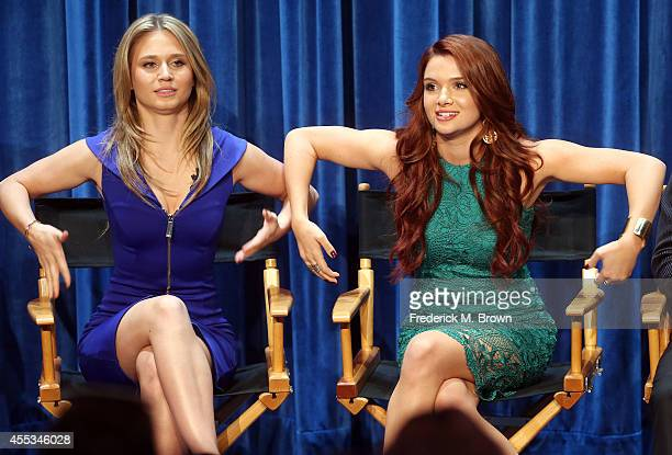 Actresses Rita Volk and Katie Stevens speak during The Paley Center for Media's PaleyFest 2014 Fall TV Preview MTV at The Paley Center for Media on...