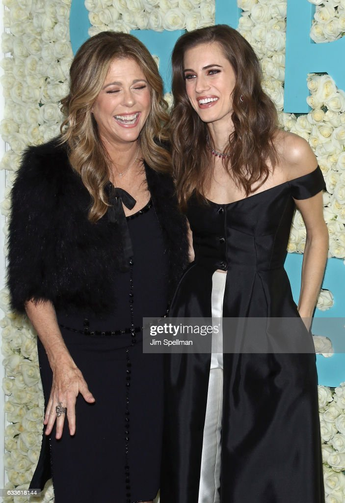 Actresses Rita Wilson and Allison Williams attend the the New York premiere of the sixth and final season of 'Girls' at Alice Tully Hall, Lincoln Center on February 2, 2017 in New York City.