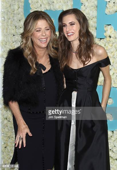 Actresses Rita Wilson and Allison Williams attend the the New York premiere of the sixth and final season of 'Girls' at Alice Tully Hall Lincoln...