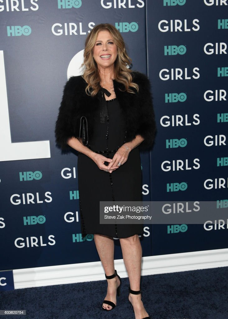 Actresses Rita Wilson attends the the New York premiere of the sixth and final season of 'Girls' at Alice Tully Hall, Lincoln Center on February 2, 2017 in New York City.