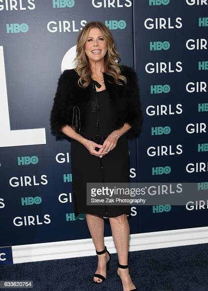 Actresses Rita Wilson attends the the New York premiere of the sixth and final season of 'Girls' at Alice Tully Hall Lincoln Center on February 2...