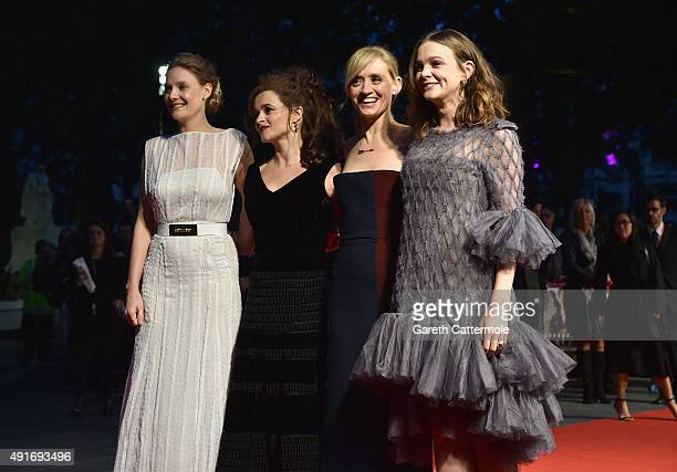 Actresses Romola Garai Helena Bonham Carter Anne Marie Duff and Carey Mulligan attend the 'Suffragette' premiere at the Opening Night Gala during the...