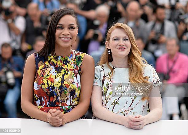 Actresses Rosario Dawson and Mireille Enos attend the 'Captives' photocall during the 67th Annual Cannes Film Festival on May 16 2014 in Cannes France
