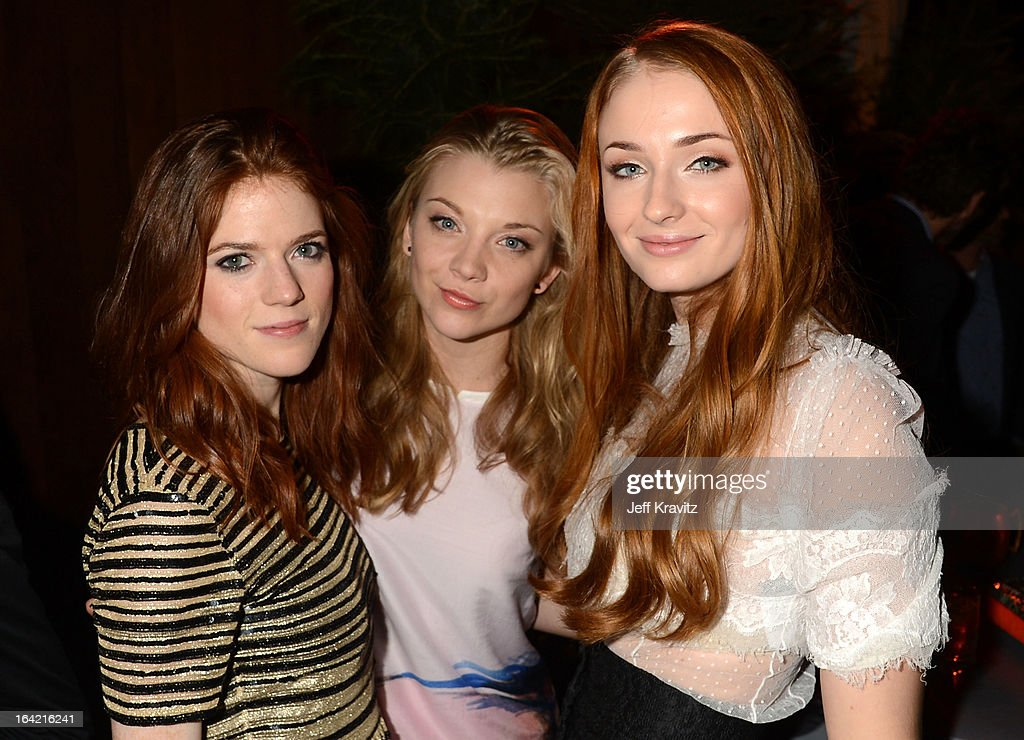 Actresses <a gi-track='captionPersonalityLinkClicked' href=/galleries/search?phrase=Rose+Leslie&family=editorial&specificpeople=7275579 ng-click='$event.stopPropagation()'>Rose Leslie</a>, <a gi-track='captionPersonalityLinkClicked' href=/galleries/search?phrase=Natalie+Dormer&family=editorial&specificpeople=817757 ng-click='$event.stopPropagation()'>Natalie Dormer</a> and <a gi-track='captionPersonalityLinkClicked' href=/galleries/search?phrase=Sophie+Turner+-+Actrice&family=editorial&specificpeople=11657140 ng-click='$event.stopPropagation()'>Sophie Turner</a> attend HBO's 'Game Of Thrones' Season 3 San Francisco Premiere on March 20, 2013 in San Francisco, California.