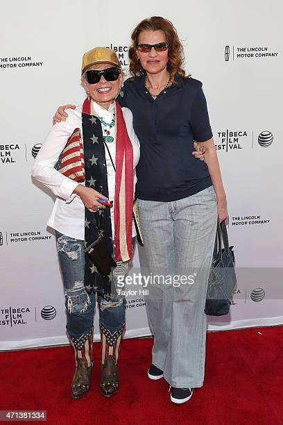 Actresses Roseanne Barr and Sandra Bernhard attend the world premiere of 'Roseanne for President' during the 2015 Tribeca Film Festival at SVA...