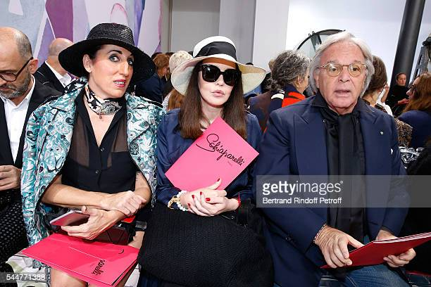 Actresses Rossy de Palma Isabelle Adjani and Diego Della Valle attend the Schiaparelli Haute Couture Fall/Winter 20162017 show as part of Paris...
