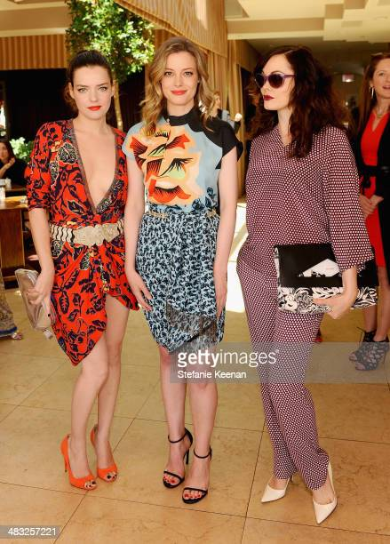 Actresses Roxane Mesquida Gillian Jacobs and Rose McGowan attend Vogue Lunch In Celebration Of The Etro Spring Collection Hosted By Sally Singer at...