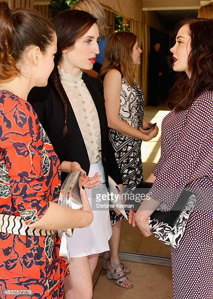 Actresses Roxane Mesquida Zoe ListerJones and Rose McGowan attend Vogue Lunch In Celebration Of The Etro Spring Collection Hosted By Sally Singer at...