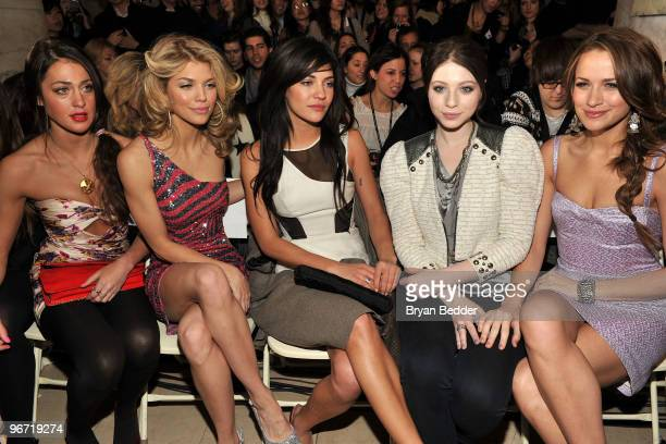 Actresses Roxy Olin AnnaLynne McCord Jessica Szohr Michelle Trachtenberg and Shantel Vansanten attend the Jill Stuart Fall 2010 Fashion Show during...
