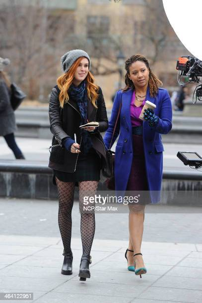 Actresses Rumer Willis and Tracie Thoms are seen on January 20 2014 in New York City