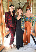 Actresses Rumer Willis Scout Willis and Tallulah Willis attend the MAC Cosmetics Zac Posen luncheon at the Ennis House hosted by Karen Buglisi Weiler...