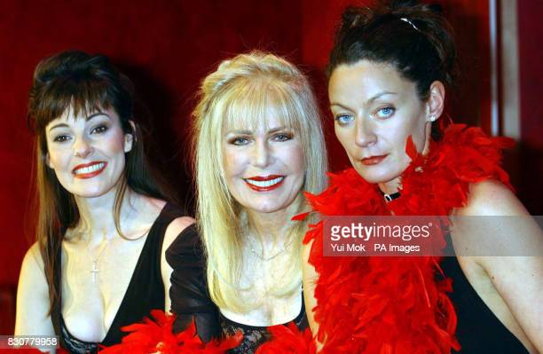 Actresses Ruthie Henshall and Michelle Gomez join Loretta Swit during a photocall for a cast change of 'The Vagina Monologues' at the Arts Theatre in...