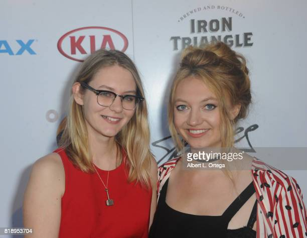 Actresses Ryan Simpkins and Jacqueline Emerson attend Stan Lee 95th Birthday House Party held at Private Residence on July 18 2017 in Los Angeles...