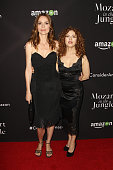 Actresses Saffron Burrows and Bernadette Peters attend the 'Mozart In The Jungle' Emmy FYC screening event at Hollywood Roosevelt Hotel on April 21...