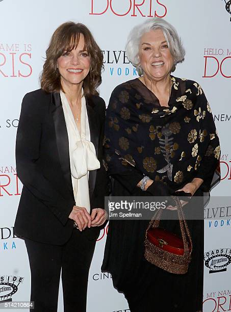 Actresses Sally Field and Tyne Daly attend Roadside Attractions with The Cinema Society Belvedere Vodka host The New York premiere of 'Hello My Name...