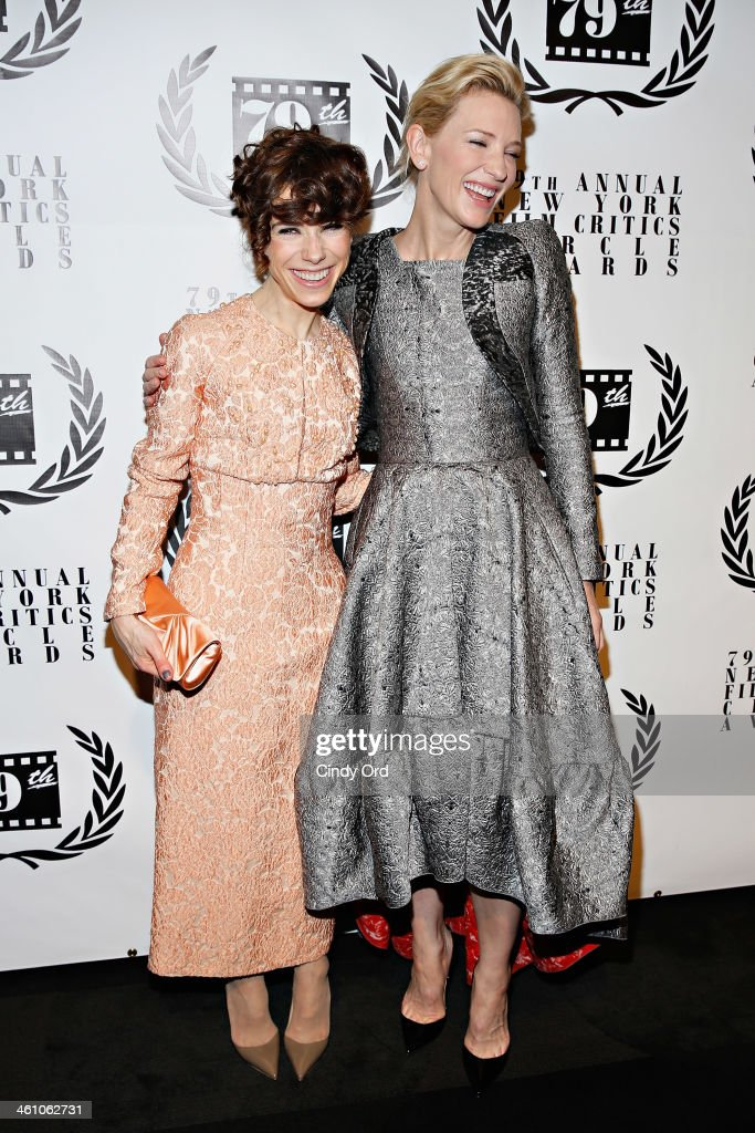 Actresses <a gi-track='captionPersonalityLinkClicked' href=/galleries/search?phrase=Sally+Hawkins&family=editorial&specificpeople=3465924 ng-click='$event.stopPropagation()'>Sally Hawkins</a> and <a gi-track='captionPersonalityLinkClicked' href=/galleries/search?phrase=Cate+Blanchett&family=editorial&specificpeople=201621 ng-click='$event.stopPropagation()'>Cate Blanchett</a> attend the 2013 New York Film Critics Circle Awards Ceremony at The Edison Ballroom on January 6, 2014 in New York City.