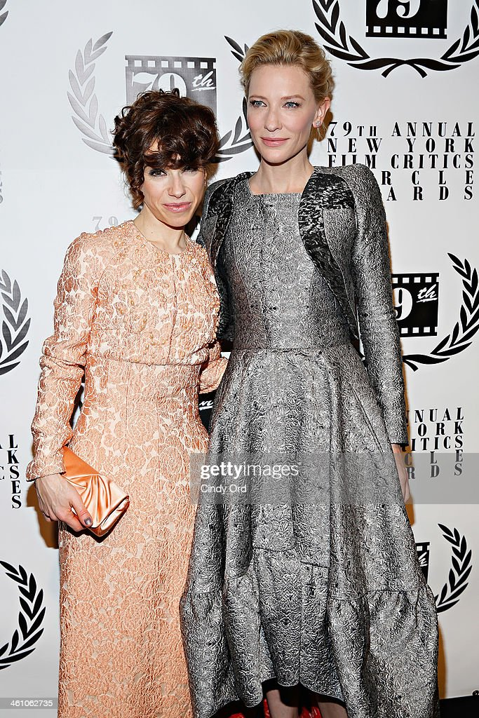 Actresses Sally Hawkins and Cate Blanchett attend the 2013 New York Film Critics Circle Awards Ceremony at The Edison Ballroom on January 6, 2014 in New York City.
