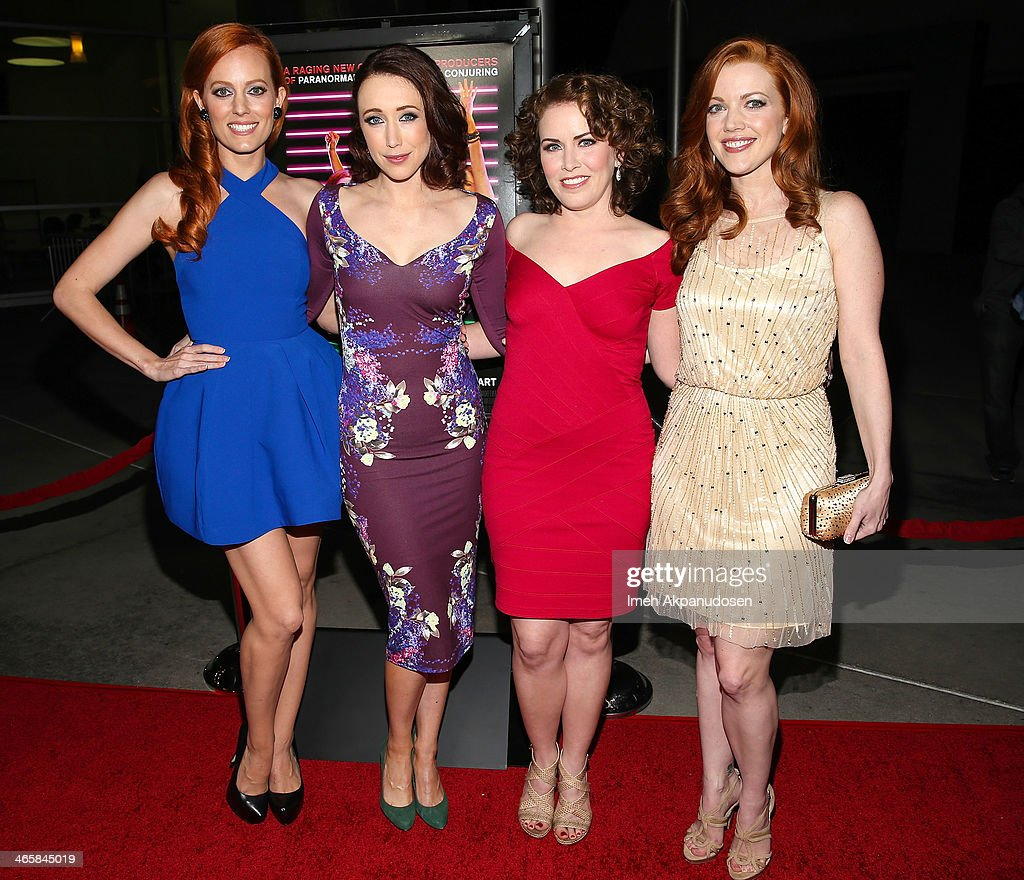 Actresses Samantha Colburn, Eddie Ritchard, <a gi-track='captionPersonalityLinkClicked' href=/galleries/search?phrase=Crista+Flanagan&family=editorial&specificpeople=737112 ng-click='$event.stopPropagation()'>Crista Flanagan</a>, and Desiree Hall attend the premiere of Magnet's 'Best Night Ever' at ArcLight Cinemas on January 29, 2014 in Hollywood, California.