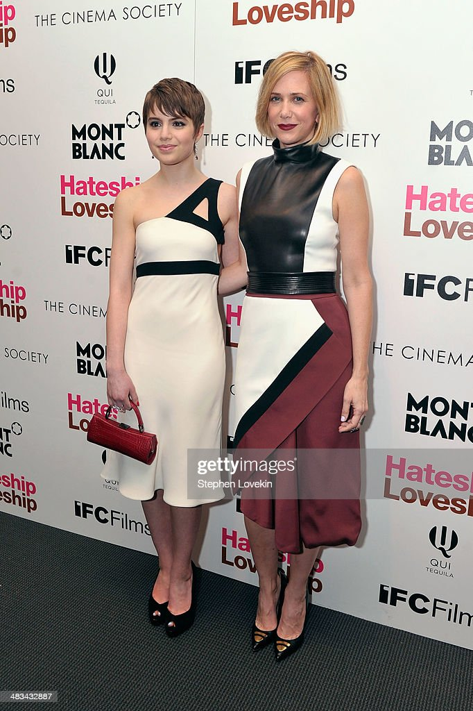 Actresses <a gi-track='captionPersonalityLinkClicked' href=/galleries/search?phrase=Sami+Gayle&family=editorial&specificpeople=5053940 ng-click='$event.stopPropagation()'>Sami Gayle</a> (L) and <a gi-track='captionPersonalityLinkClicked' href=/galleries/search?phrase=Kristen+Wiig&family=editorial&specificpeople=4029391 ng-click='$event.stopPropagation()'>Kristen Wiig</a> attend IFC Films' 'Hateship Loveship' screening hosted by The Cinema Society and Montblanc at the Museum of Modern Art on April 8, 2014 in New York City.