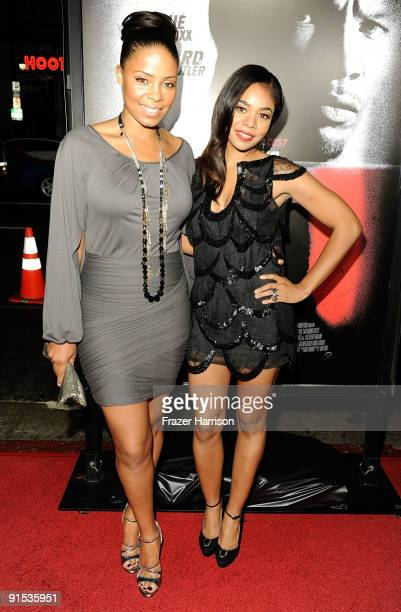 Actresses Sanaa Lathan and Regina Hall arrive at the premiere screening of Overture Films' 'Law Abiding Citizen' held at Grauman's Chinese Theatre on...