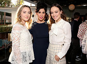Actresses Saoirse Ronan Sarah Silverman and Olivia Wilde attend the 'Indie Contenders Roundtable presented by The Hollywood Reporter' during AFI FEST...