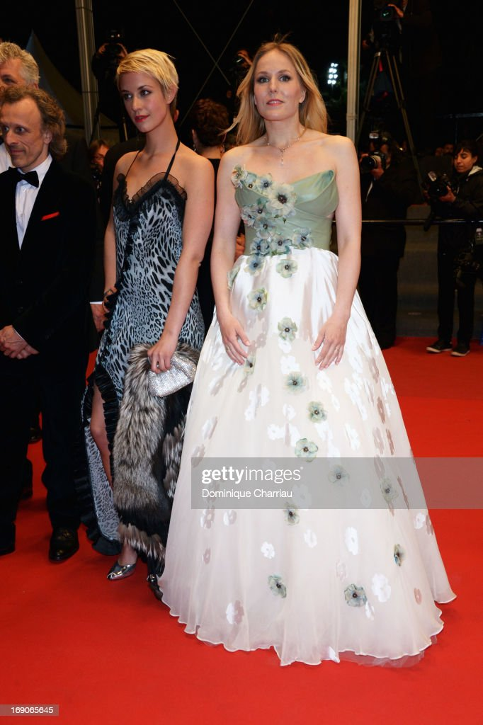 Actresses Sara Hjort Ditlevsen and Hadewych Minis attend the Premiere of 'Borgman' during The 66th Annual Cannes Film Festival at Palais des Festivals on May 19, 2013 in Cannes, France.