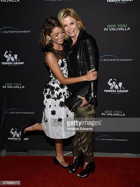 Actresses Sarah Hyland and Julie Bowen arrive at the Los Angeles premiere of 'See You In Valhalla' at the ArcLight Cinemas on April 21 2015 in...