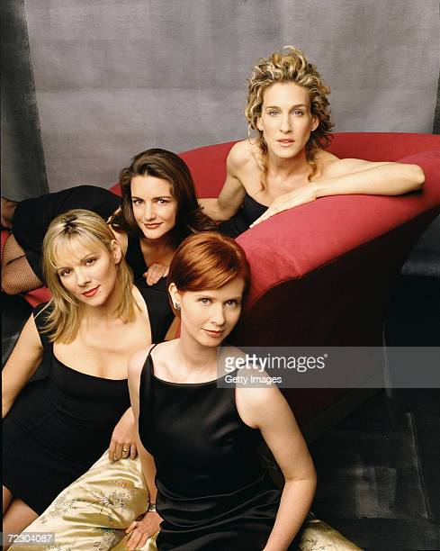 Actresses Sarah Jessica Parker Cynthia Nixon Kim Cattrall and Kristin Davis of 'Sex and the City' pose for a portrait