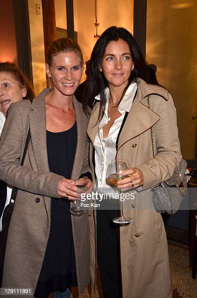 Actresses Sarah Lelouch and Cristiana Reali attend the Valenciennes Cinema Festival Fiction Films Gala Arrivals at the Via Ristorente on October 12...