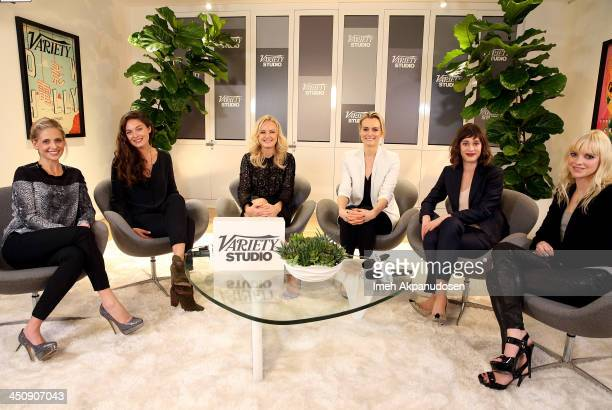 Actresses Sarah Michelle Gellar Alexa Davalos Malin Akerman Taylor Schilling Lizzy Caplan and Anna Faris attend Variety Awards Studio Day 1 at the...