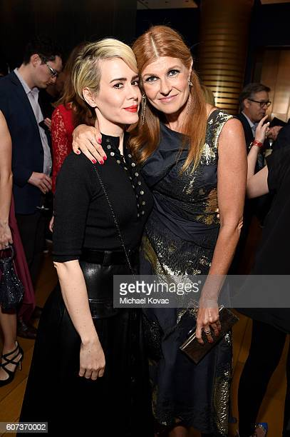 Actresses Sarah Paulson and Connie Britton at Vanity Fair And FX's Annual Primetime Emmy Nominations Party on September 17 2016 in Beverly Hills...