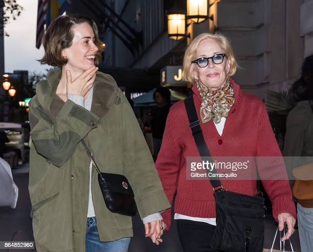Actresses Sarah Paulson and Holland Taylor are seen out and about on October 21 2017 in Philadelphia Pennsylvania
