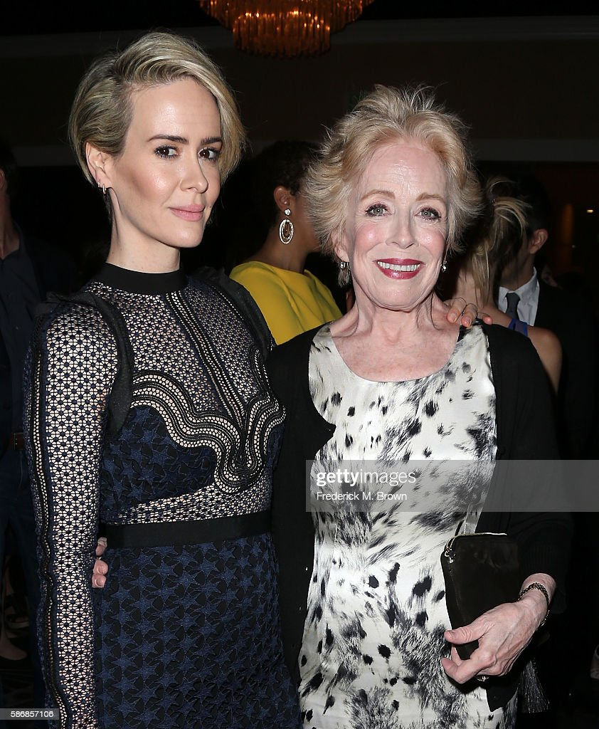 Actresses Sarah Paulson and Holland Taylor attend the 32nd annual Television Critics Association Awards during the 2016 Television Critics...