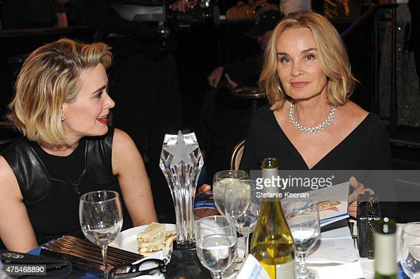 Actresses Sarah Paulson and Jessica Lange attend the 5th Annual Critics' Choice Television Awards at The Beverly Hilton Hotel on May 31 2015 in...